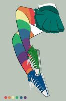 Rainbow Legs by YellowRibbons