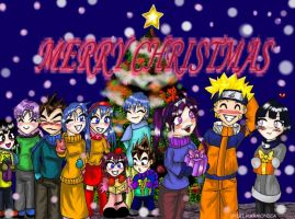 Merry Christmas-DBZ n Naruto by princesstressa