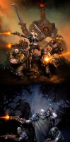 Warmachine: Mercenaries by Mr--Jack
