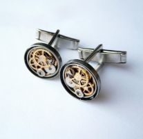 Cufflinks Model Seventeen by AMechanicalMind