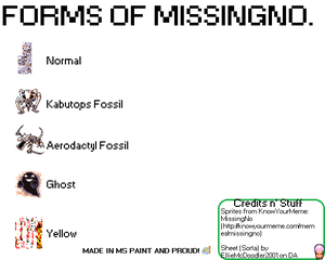 Forms of Missingno. by EllieMcDoodler