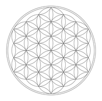 Flower of Life - Lineart by enon013