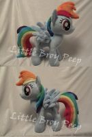 my little pony Rainbow dash plush (commission) by Little-Broy-Peep