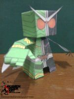 Kamen Rider W papercarft by jazzmellon