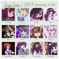 [2013] SUMMARY OF ART by Sluggy-Slimes