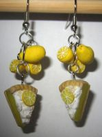 Lemon Meringue Pie Earrings 2 by sonickingscrewdriver