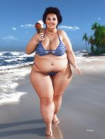 BBW_Beach and Ice Cream by Rendermojo