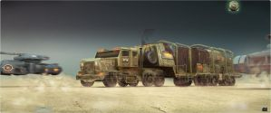 Ordos MCV  escorted by two Viper tanks by spidermc