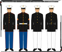 United States Marine Corps Dress Blues - Today by Grand-Lobster-King