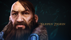 The Witcher Adventure game art Yarpen Ziggrin by Scratcherpen