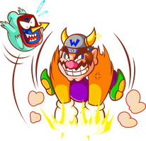 Bull Wario, he's sucha Bully o3o by JamesmanTheRegenold