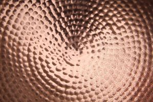 Shiney Copper Metal Texture Pitted Bowl Water by TextureX-com