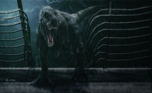 Rexy 3d jurassic park by Wolfhooligans
