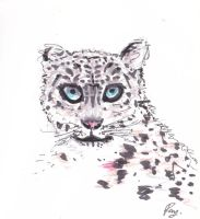 An anorexic Snow Leopard by imfromdunman