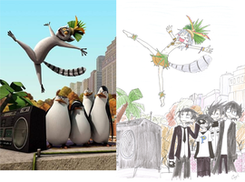 TPoM and King Julien by GreenSpoi