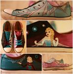 Let It Go Painted Shoes by Swirledheart
