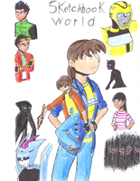 Sketchbook World Cover Colored pencil V. by Crazy-Brave-Girl