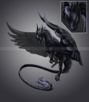 Night Shade Dragon design by Kamakru