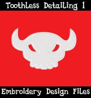 Toothless Tail Skull [EMBROIDERY FILE] by TheHarley