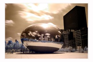Cloudgate in Infrared by paddimir