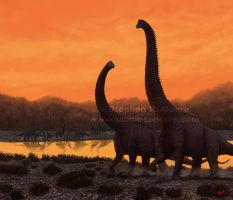 The Old and the New, Brachiosaurus altithorax by StudioSpectre