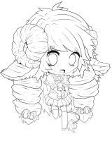 Sheep Schoolgirl Lineart~ by chatt3rbox