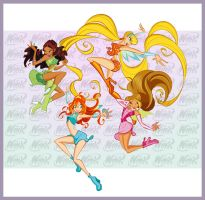 Winx Club Frolicking Fairies by WinxClubFanArt