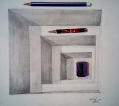 3d illusion drawing practice by MKR by mohitkumarrao