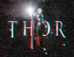 Thor Movie Wallpaper In 3D by Geosammy