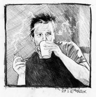 Richard Kruspe sketch by Red-Szajn
