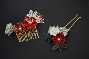 New Years Kanzashi by hanatsukuri