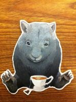 Wombat Teatime by HippieLlama