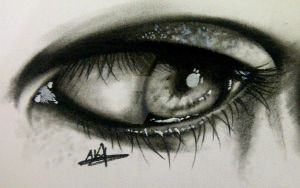 Eye drawing ( charcoal ) by DBNext1