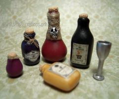 Potion Bottles - 1:12th Scale by DFLY847