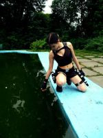 LaraCroft - Touching the water by TanyaCroft