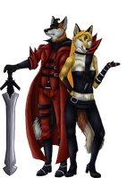Devil May Cry Foxes by VulpineFlame