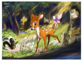 Bambi (1942) by ncillustration