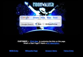 MJ's Moonwalker Startpage by AwesomeStart
