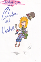 Adventure Time with Caledonia and Vendetta by FlashyFashionFraud
