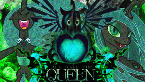 Wallpaper 1: Hail to the Changeling Queen by QuanXaro