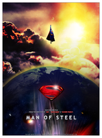 THE MAN OF STEEL - Superman Movie Poster by SoenkesAdventure