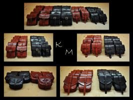 Leather bags/pouches black/brown by KramMelnira