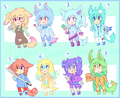 Adoptables Batch 2 (OPEN) by Glitch-Doodles