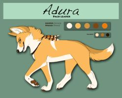 Adura Reference Sheet by Silvixen