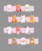 Set Price: Fantasy Dogs #1-12 [12/12 Open] by princess-adoptables