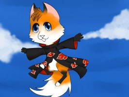 Kuro the Akatsuki Fox by glowy-colors-lova-8D