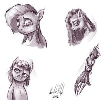Three Pony Portraits (And A Robot Arm) by kvernikovskiy