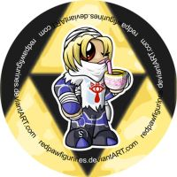 Sheik Chibi Badge by RedPawDesigns
