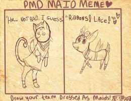 PMD maid meme by Silver-she-wolf-14