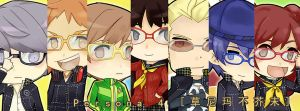 Persona 4 Chibies by clowx